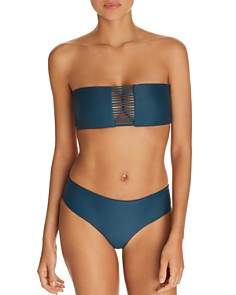 MIKOH - Sunset Multi Strap Bandeau Bikini Top & Cruz Bay Bikini Bottom
