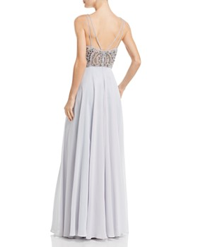 b810282e ... AQUA - Embellished Chiffon Gown - 100% Exclusive