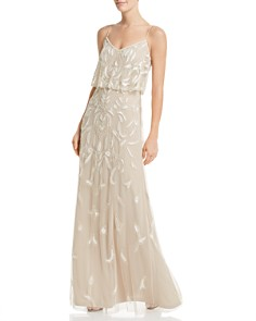 Adrianna Papell - Embellished Tiered Gown