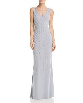 AQUA - Embellished Column Gown - 100% Exclusive
