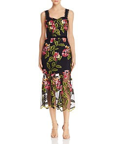 BRONX AND BANCO - Cordelia Floral-Embroidered Dress