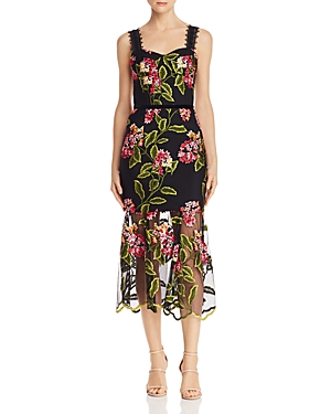 Bronx And Banco Dresses CORDELIA FLORAL-EMBROIDERED DRESS