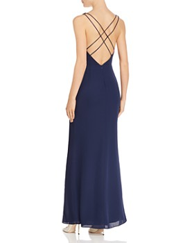 Fame and Partners - Strap-Detail Draped Gown