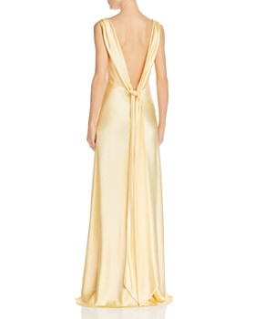 Jill Jill Stuart - Bow-Back Satin Gown