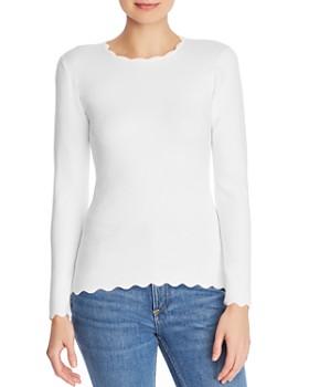 Minnie Rose - Scalloped Sweater