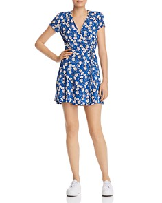 Olivaceous - Floral Wrap Dress