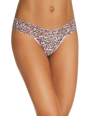 Hanky Panky Tops LOW-RISE PRINTED LACE THONG