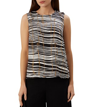 34c86c0442f82 HOBBS LONDON - Carla Sleeveless Printed Top ...