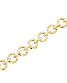 Freida Rothman - Radiance Chain Link Bracelet in 14K Gold-Plated & Rhodium-Plated Sterling Silver