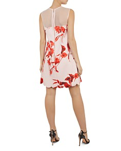 Ted Baker - Jaazmin Fantasia-Print Mini Dress