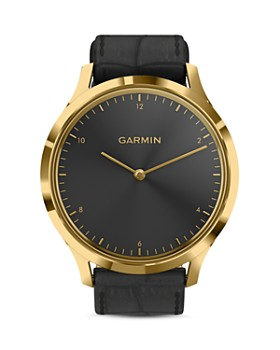 Garmin - Vivomove HR Polished Gold Touchscreen Hybrid Smartwatch, 43mm