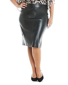 Estelle Plus - Monroe Faux-Leather Skirt