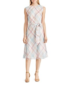 Ralph Lauren - Plaid Belted Midi Dress