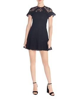 Sandro - Corentin Cotton Lace Mini Dress