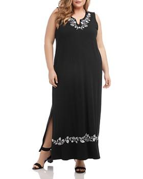 Karen Kane Plus - Sleeveless Embroidered Maxi Dress