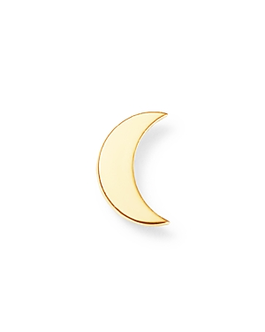 Zoe Chicco 14K Yellow Gold Single Itty Bitty Crescent Moon Stud Earring-Jewelry & Accessories
