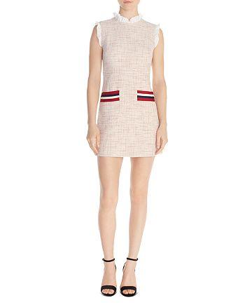 Sandro - Morgan Ruffled Tweed Mini Dress