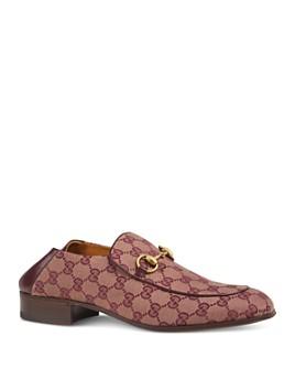 Gucci - Men's Mister GG Supreme Canvas Apron-Toe Loafers