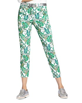 BASLER - Julienne Paisley-Print Cropped Jeans in Multi