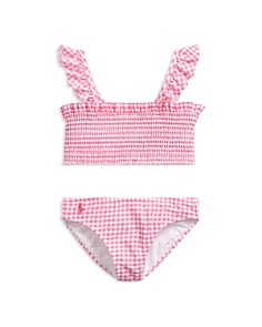 Ralph Lauren - Girls' Gingham Two-Piece Swimsuit - Little Kid