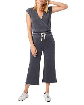 ALTERNATIVE - Cap-Sleeve Cropped Jumpsuit