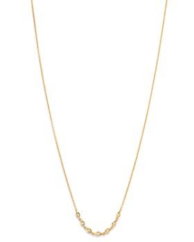 """Madhuri Parson - 14K Yellow Gold Diamond Essentials Station Necklace, 18"""""""