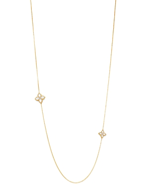Roberto Coin 18K Yellow Gold Venetian Princess Diamond & Mother-of-Pearl Station Necklace, 32