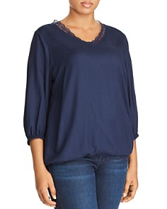 JUNAROSE Plus - Cazay Textured-Dot Top