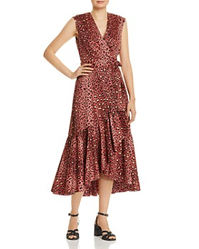 Rebecca Taylor - Leopard-Print Wrap Dress