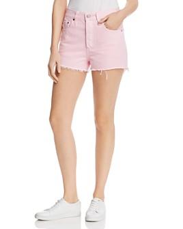 Levi's - 501 High Rise Cutoff Denim Shorts in Light Pink