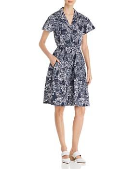 DKNY - Paisley-Print Shirt Dress