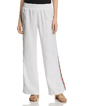 Johnny Was - Ezra Embroidered Linen Pants