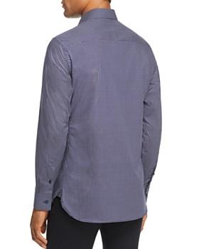 Z Zegna - Micro Geometric Print Regular Fit Sport Shirt