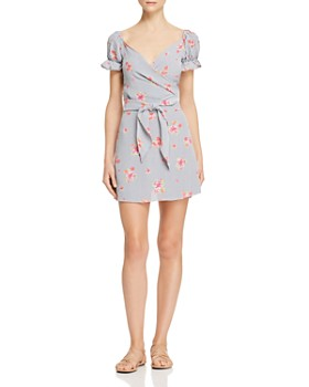 Flynn Skye - Ann Wrap Top & Floral Mini Skirt