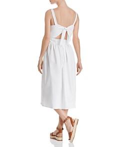 AQUA - Tie-Back Poplin Midi Dress - 100% Exclusive