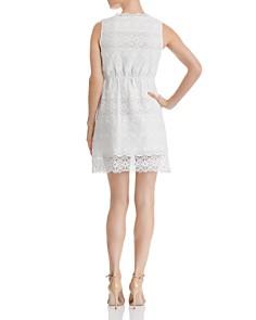 AQUA - Floral Lace-Inset Dress - 100% Exclusive