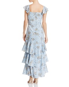 AQUA - Floral-Print Tiered Maxi Dress - 100% Exclusive
