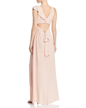 BCBGMAXAZRIA - Ruffled Georgette Gown - 100% Exclusive
