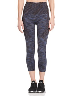 LNDR - Space-Dye Cropped Compression Leggings