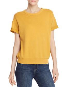 FRAME - Cuffed Short-Sleeve Sweatshirt