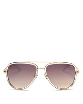 Quay - Women's QUAY x JLO All In Mirrored Aviator Sunglasses, 56mm