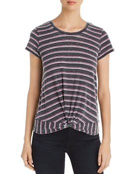 Marc New York - Striped Twist-Front Tee