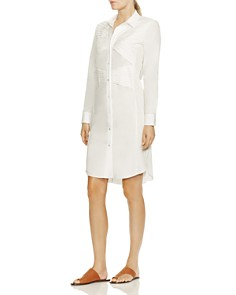 HALSTON HERITAGE - Pintucked Shirt Dress