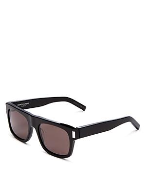 Saint Laurent Men\\\'s Flat Top Square Sunglasses, 52mm-Men