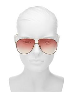 Gucci - Women's Aviator Sunglasses, 63mm