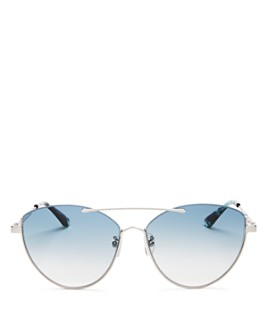 McQ Alexander McQueen - Women's Brow Bar Cat Eye Sunglasses, 58mm