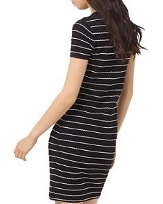 MICHAEL Michael Kors - Striped Scalloped Mini Dress