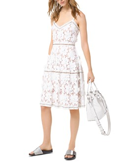 MICHAEL Michael Kors - Floral-Appliqué Lace Dress