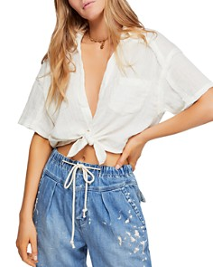Free People - Full Of Light Knot-Front Top