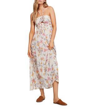 88fcff3ee1b9 Free People - One Step Ahead Floral-Print Midi Dress ...